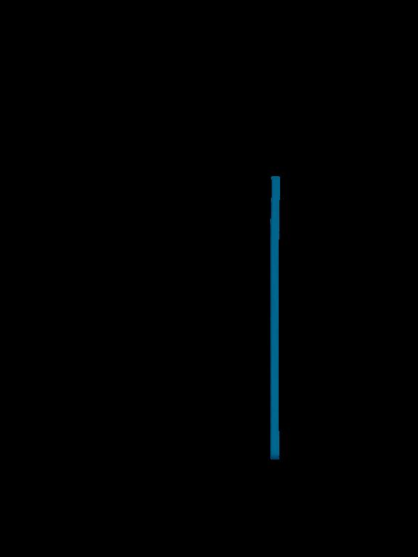 Cobalt blue elastic band