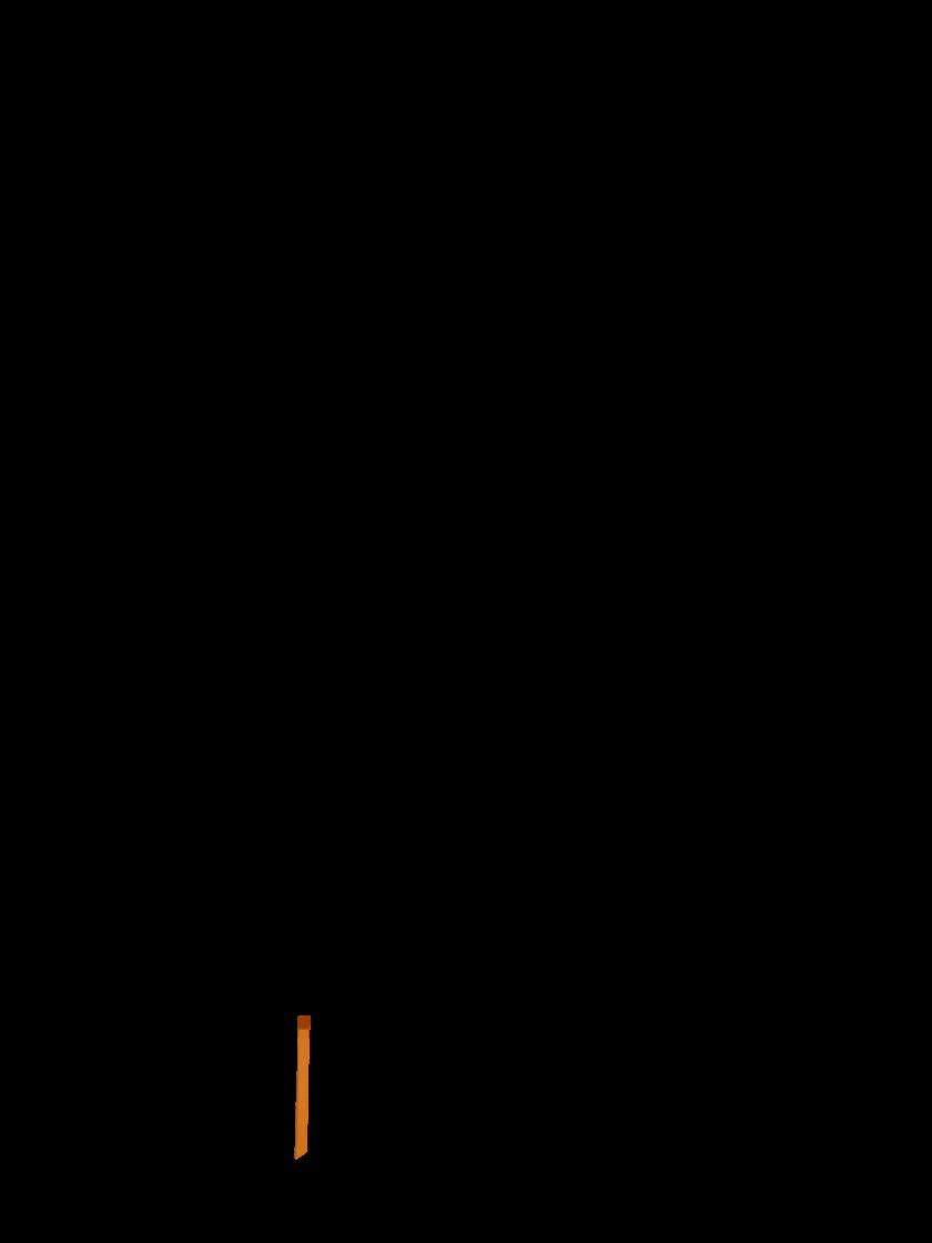 Orange ribbon marker