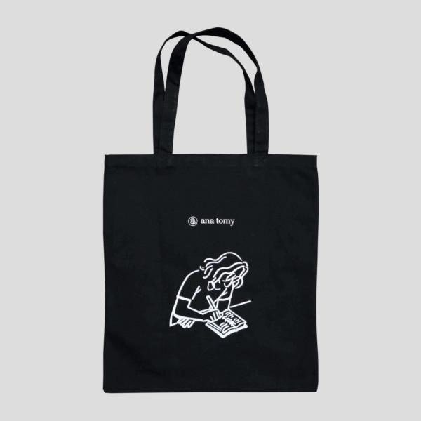 ana tomy Brand Tote Bag - Black