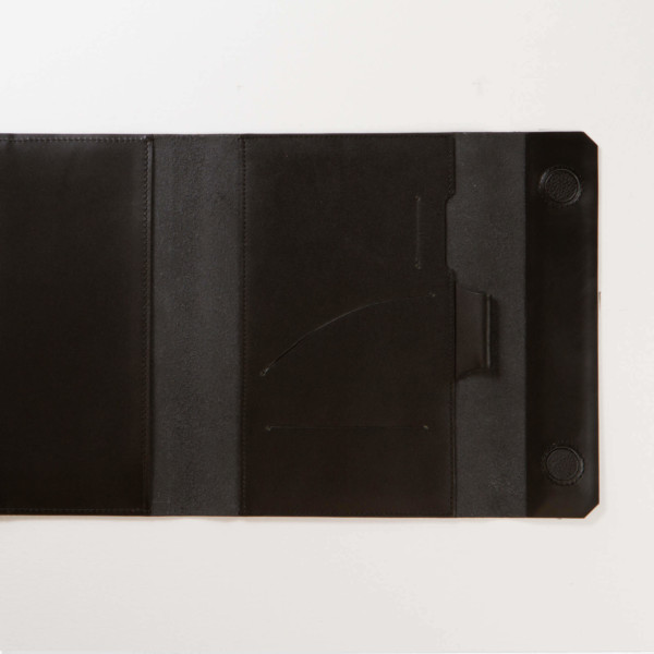 Charcoal—A5s Leather Planner Back Pocket