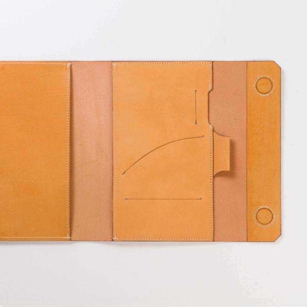 Hazelnut—A5s Leather Planner Back Pocket