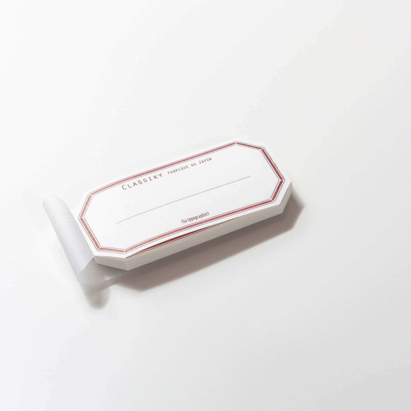 Classiky: Water Adhesive Label Book (Red)