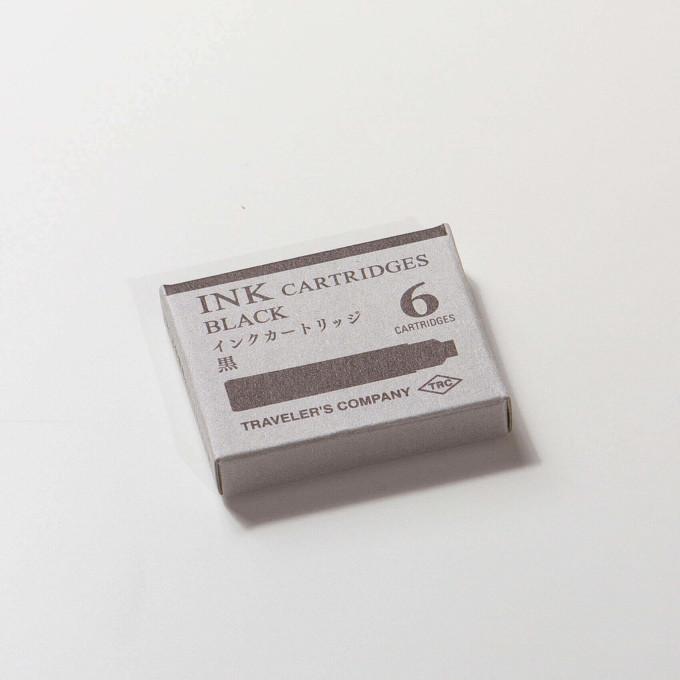 Traveler's Company Brass Fountain Pen Ink Catridge (Black)