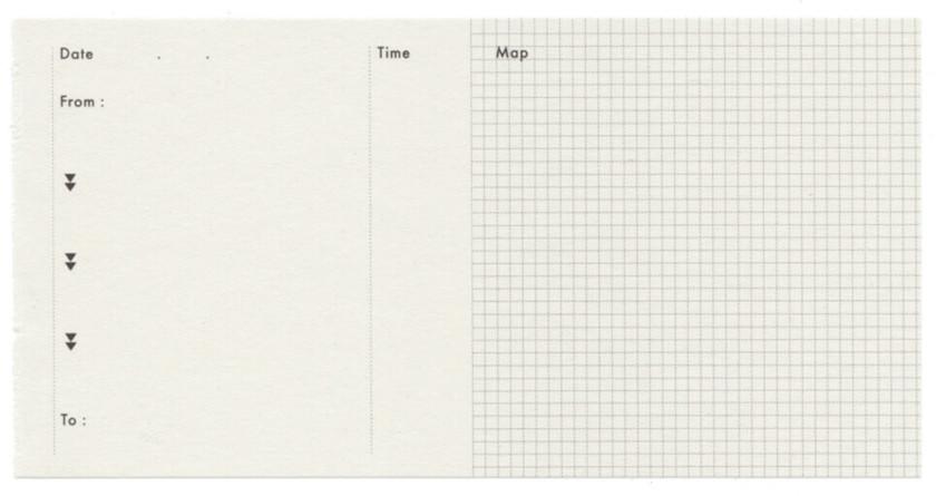Classiky: Map Pocket Memo Pad