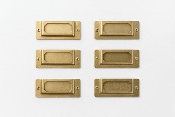 Traveler's Company Brass Label Plate