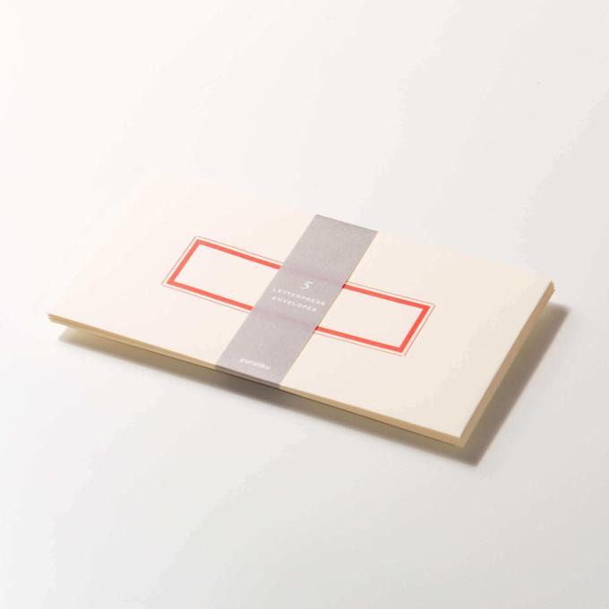 Yuruliku Letterpress Envelope (Red)