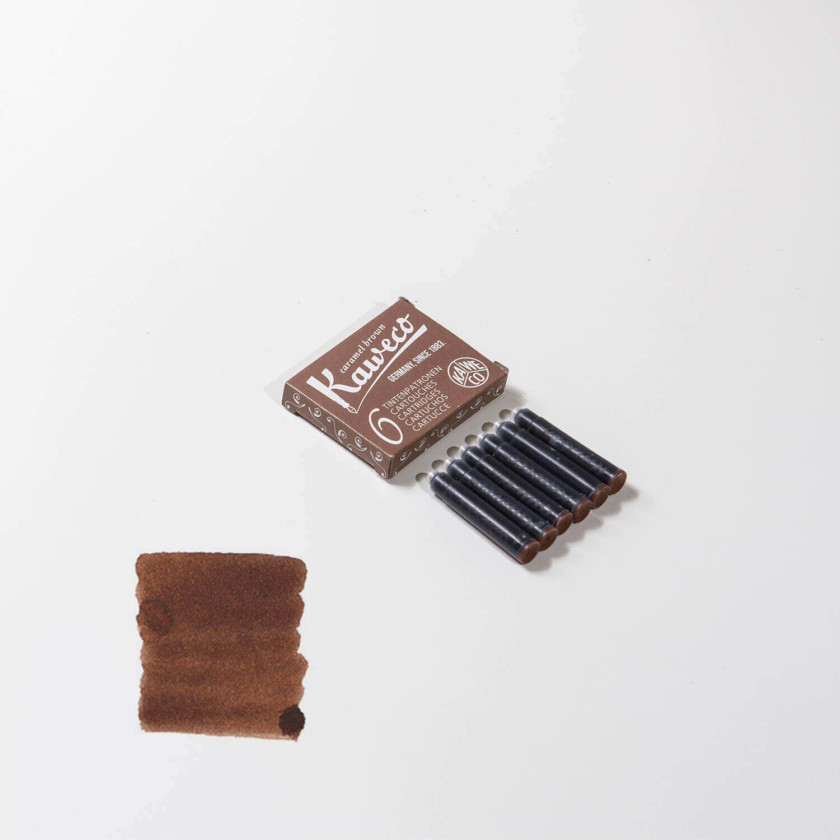 Kaweco: Ink Cartridges 6pcs (Caramel Brown)