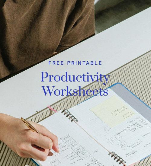 Free Printable Productivity Worksheets