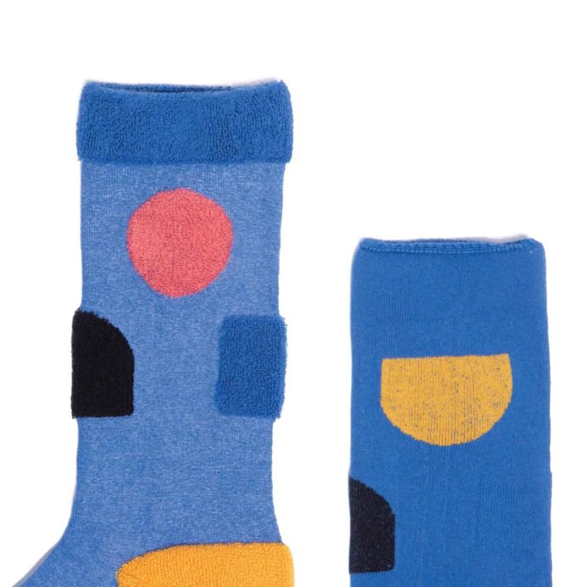 My Inner Beauty : JIWA | Reversible Patterned Socks (Blue & Black)