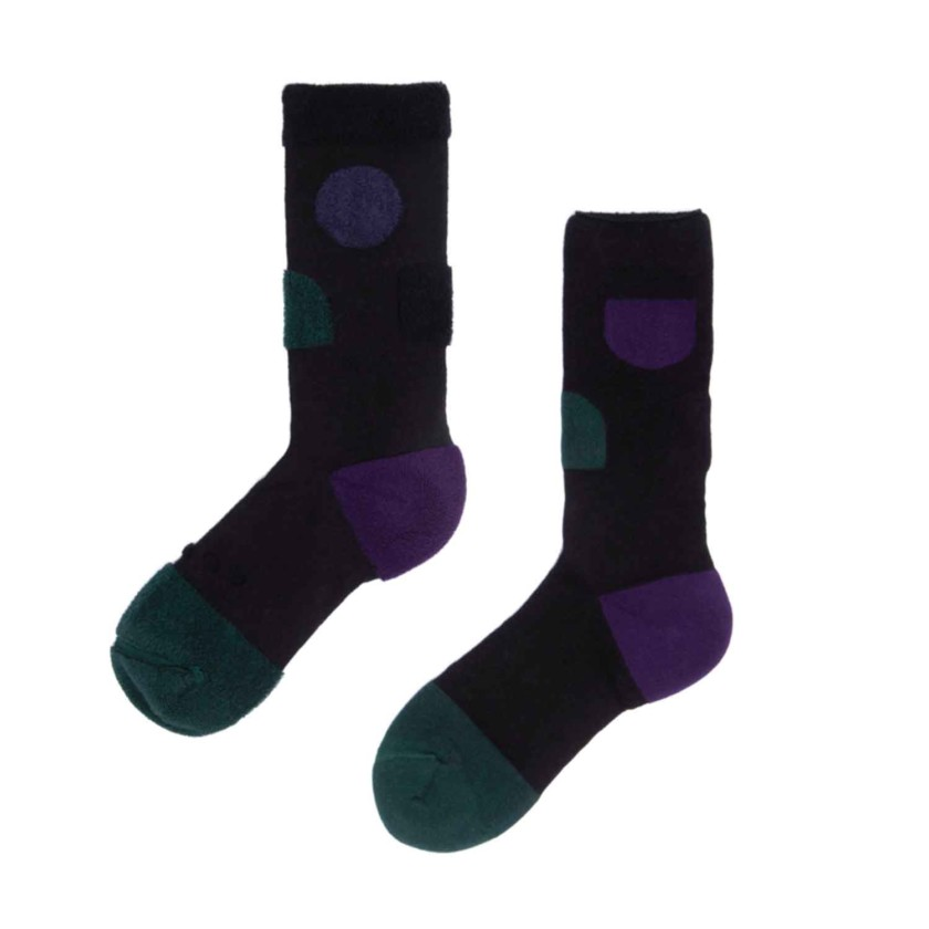 My Inner Beauty : JIWA | Reversible Patterned Socks (Black & Bistro Green)