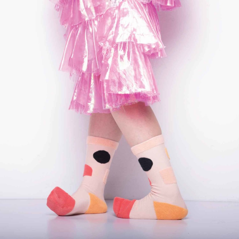 My Inner Beauty : JIWA | Reversible Patterned Socks (Pink & Orange)