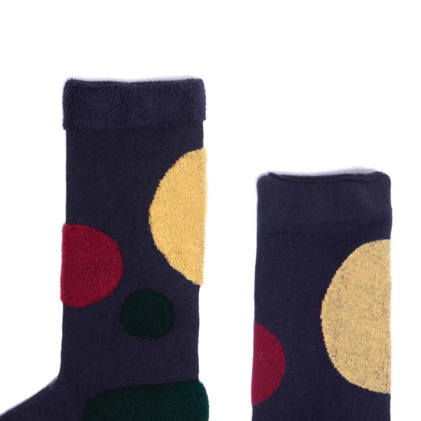 My Inner Beauty : HATI | Reversible Patterned Socks (Dark Blue & Biking Red)