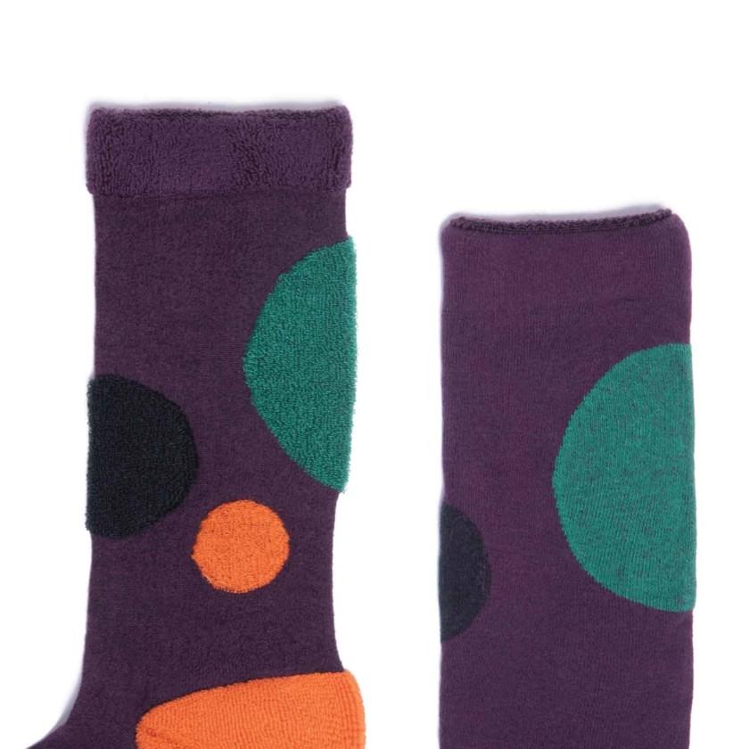 My Inner Beauty : HATI | Reversible Patterned Socks (Purple & Bistro Green)