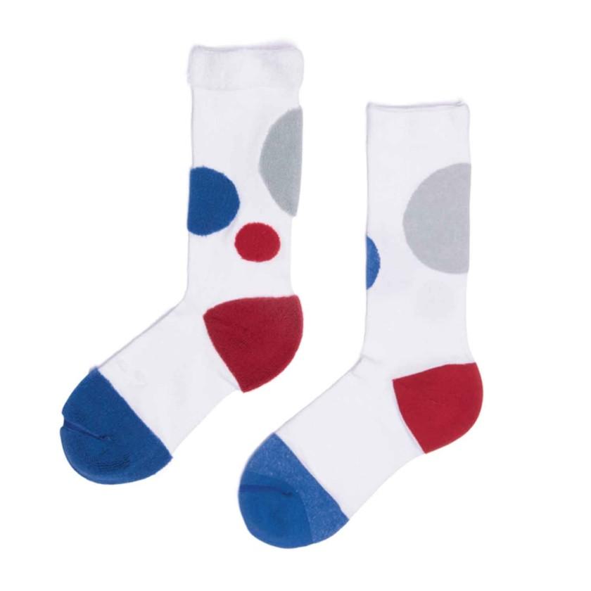 My Inner Beauty : HATI | Reversible Patterned Socks (White & Royal Blue)