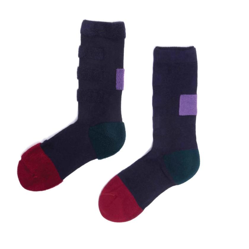 My Inner Beauty : MINDA | Reversible Patterned Socks (Biking Red & Dark Blue)