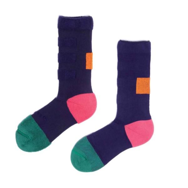 My Inner Beauty : MINDA | Reversible Patterned Socks (Fern Green & Purple)