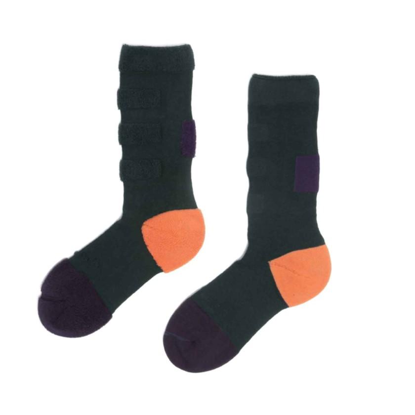 My Inner Beauty : MINDA | Reversible Patterned Socks (Purple Pennant & Bistro Green)